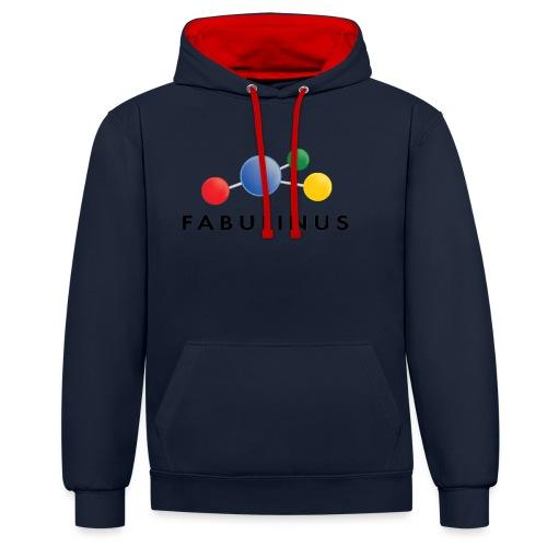 Fabulinus Zwart - Contrast hoodie