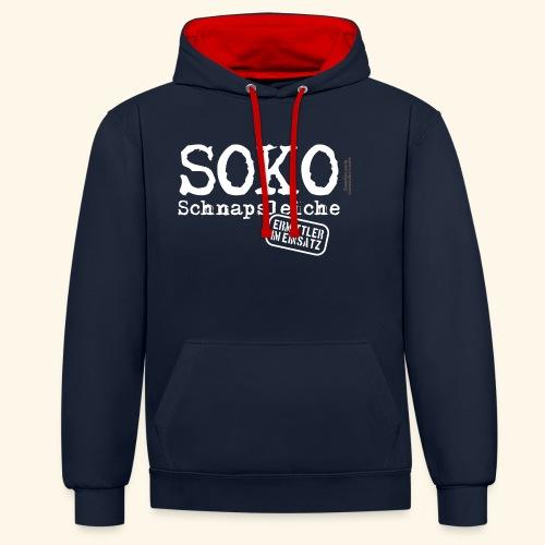 Sauf T Shirt SOKO Schnapsleiche - Kontrast-Hoodie