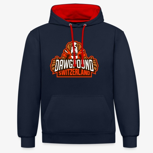 Dawgpound Switzerland Header - Kontrast-Hoodie