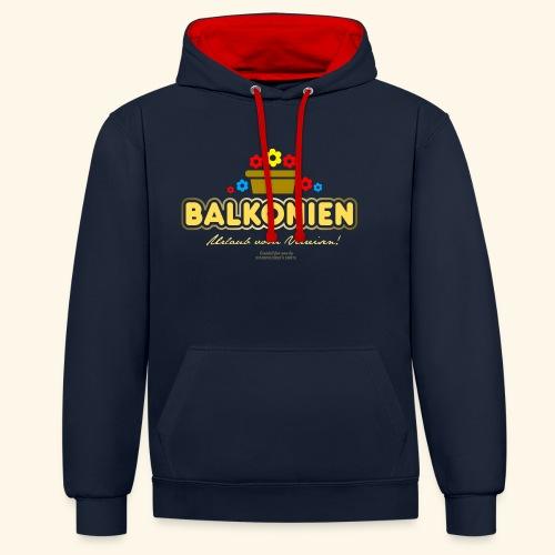 Balkonien T Shirt - Kontrast-Hoodie