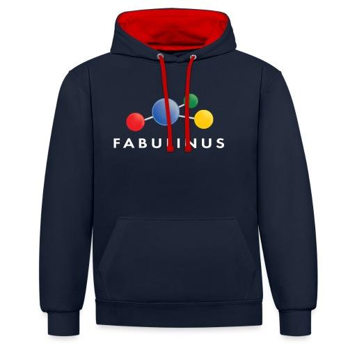 Fabulinus wit - Contrast hoodie