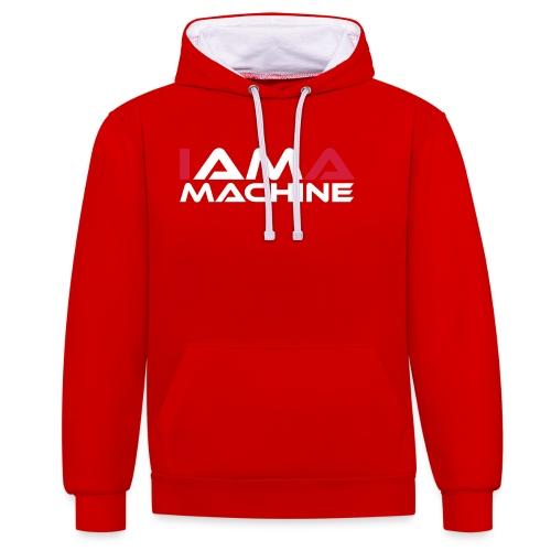 I am a Machine - Kontrast-Hoodie