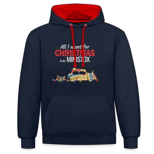 All I want for Christmas is a Ministox - Contrast Colour Hoodie