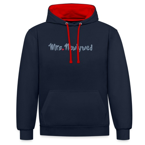 Mrs Newlywed - Contrast Colour Hoodie