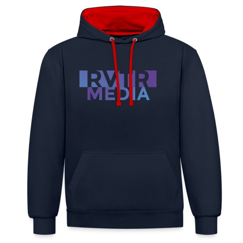 RVTR media NEW Design - Kontrast-Hoodie