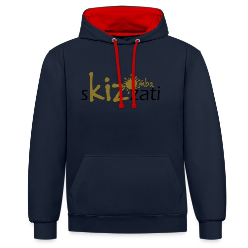Beanie in jersey con logo sKizzati Kizomba - Verde - Felpa con cappuccio bicromatica