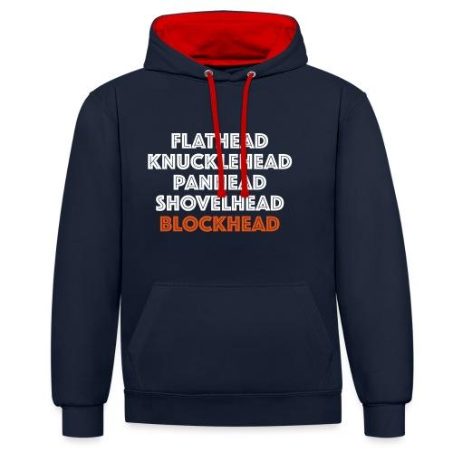 Blockhead 2C - Contrast hoodie