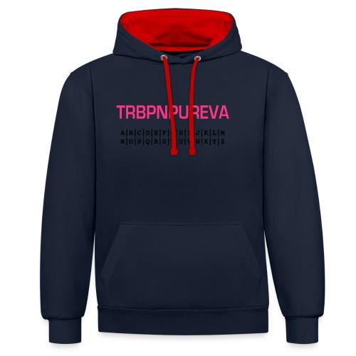 trbpnpureva - geocacherin - Kontrast-Hoodie