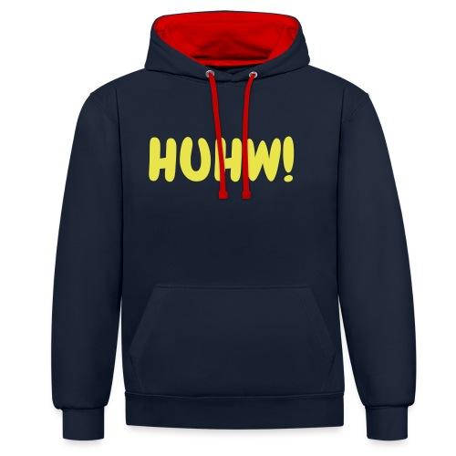 HUHW! Zckrfrk - Kontrast-Hoodie