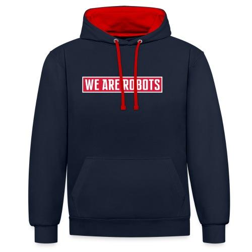 we-are-robots-logo-ROT-WE - Kontrast-Hoodie