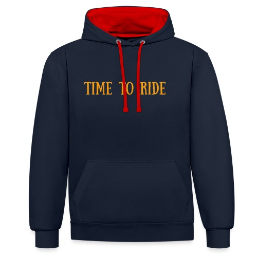 TIME TO RIDE - Sweat-shirt contraste