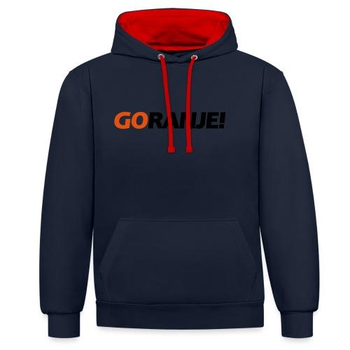 Go Ranje - Goranje - 2 kleuren - Contrast hoodie