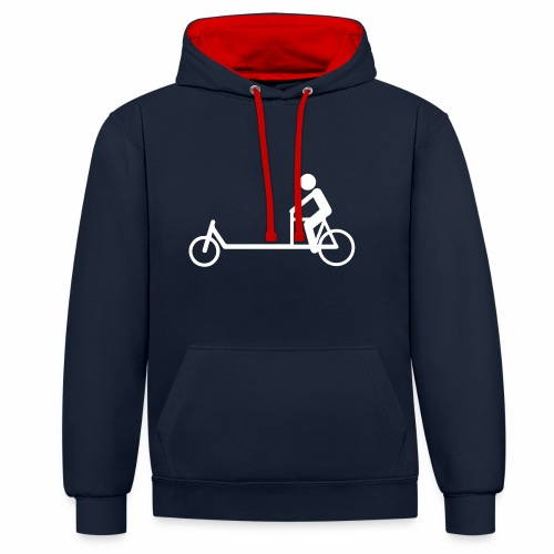 Biporteur - Sweat-shirt contraste