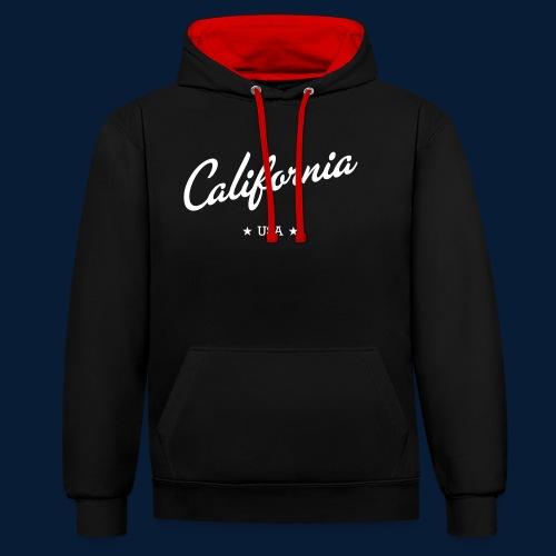 California - Kontrast-Hoodie