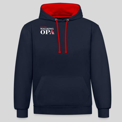 The Walking Opa 1 - Kontrast-Hoodie