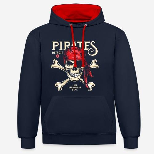 Piraten Urban Wear Sportswear - Kontrast-Hoodie