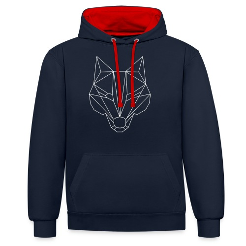 Wolf Whitelined - Kontrast-Hoodie