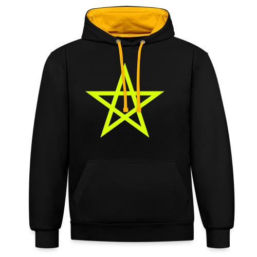 Pentagramme Wicca - Sweat-shirt contraste