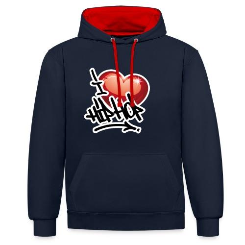 I LOVE HIP HOP PARTY !!!! - Kontrast-Hoodie