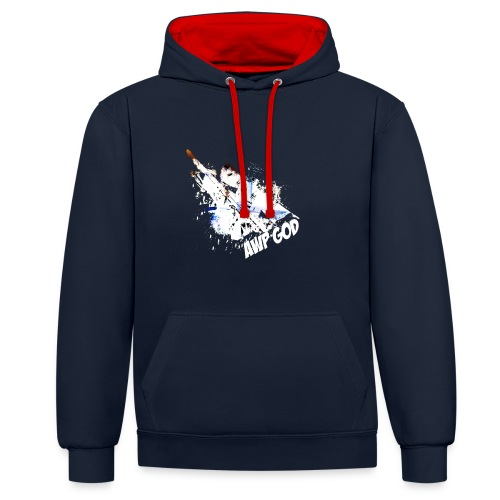 17970 2CAWP god White - Contrast Colour Hoodie
