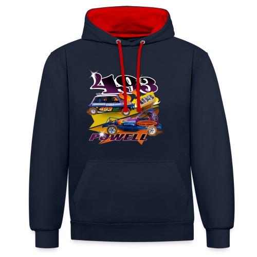 Powell 493 - Contrast Colour Hoodie