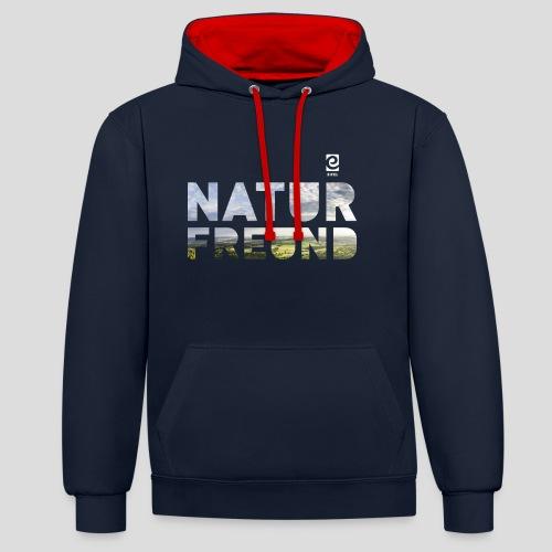 Naturfreund - weiß - Kontrast-Hoodie
