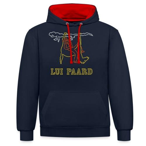 Cowboy met een lui Paard - Contrast hoodie