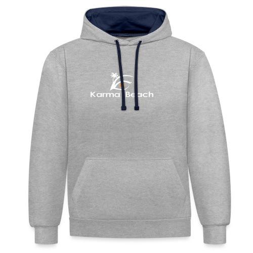 KaramaBeachLogoTs png - Sudadera con capucha en contraste