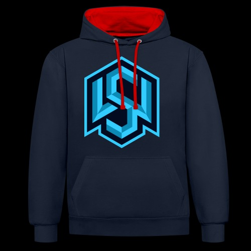 "Silent Wolves Inverted ""SW"" Merchandise - Contrast Colour Hoodie"