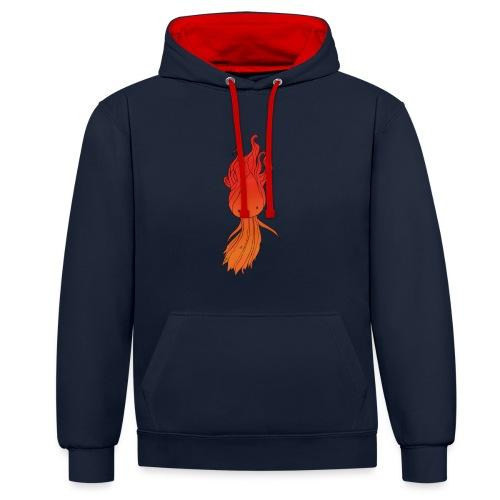 Red nymph - Kontrast-hættetrøje
