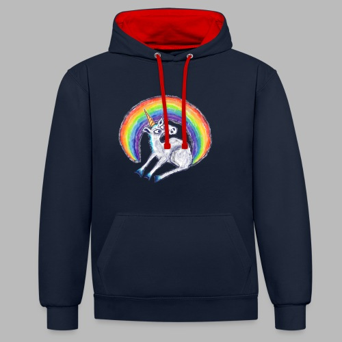 Reluctant Rainbow - Contrast Colour Hoodie