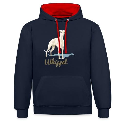 Whippet - Kontrast-Hoodie