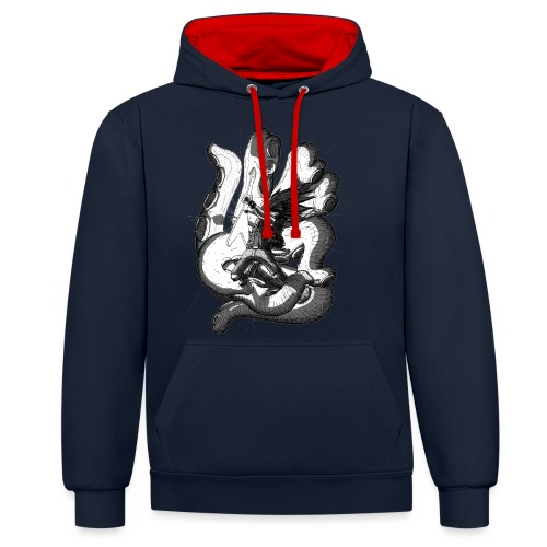 Octopus - Contrast Colour Hoodie