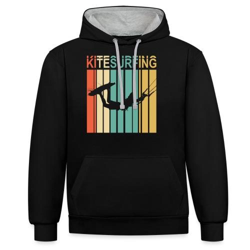 Kitesurfing - Sweat-shirt contraste
