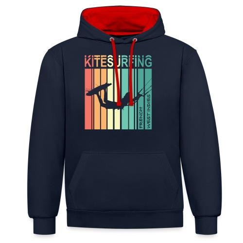 Kitesurfing FWI - Sweat-shirt contraste