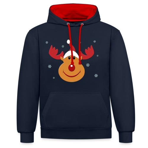 Rudolf for christmas - Contrast hoodie