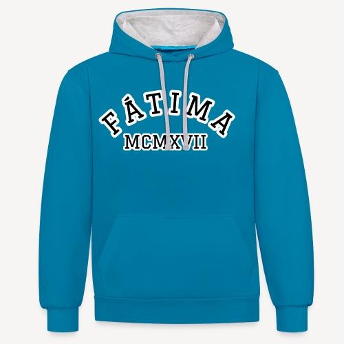 FATIMA MCMXVII - Contrast Colour Hoodie