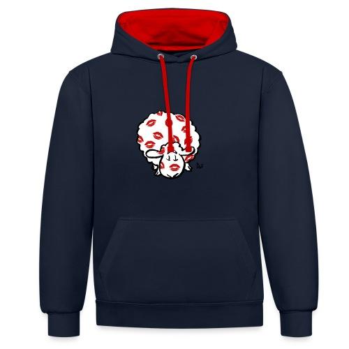 Kiss Ewe - Contrast hoodie