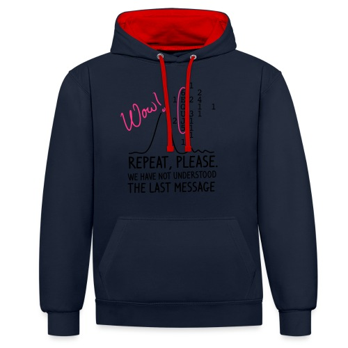 repeat please - Kontrast-Hoodie