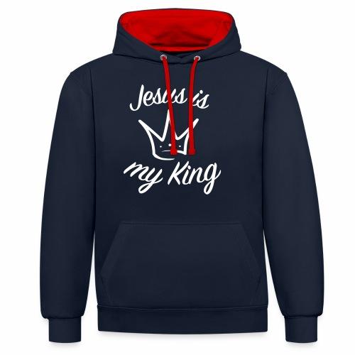 Jésus est mon roi - Sweat-shirt contraste