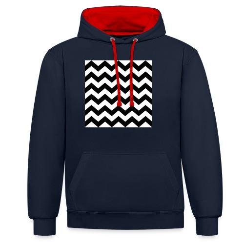 zigzag png - Sweat-shirt contraste