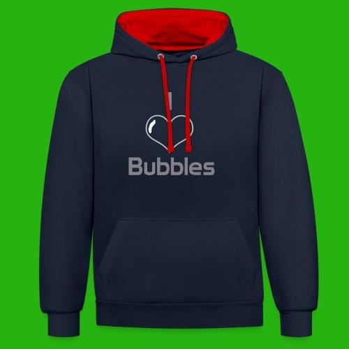 I Love Bubbles Shirt - Contrast Colour Hoodie