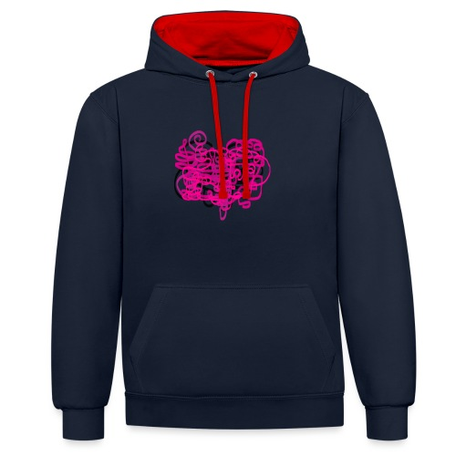 delicious pink - Contrast Colour Hoodie