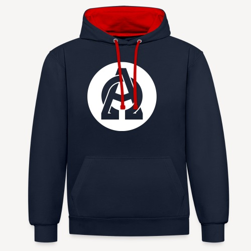 ALPHA AND OMEGA - Contrast Colour Hoodie