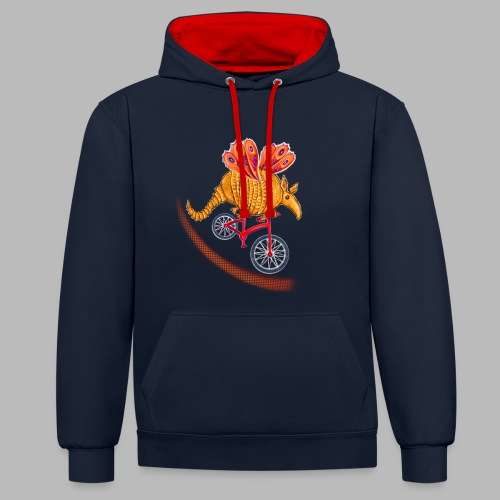 Flying Armadillo - Contrast Colour Hoodie