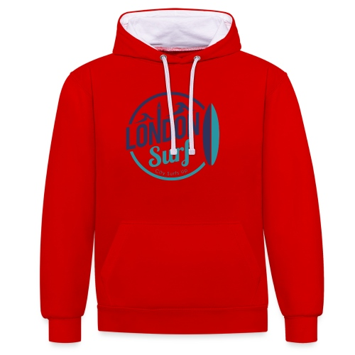 London Surf Classic Logo - Contrast Colour Hoodie