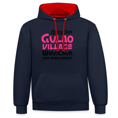 GulaoWingChun - Kontrast-Hoodie