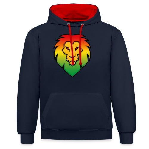 Ragga Lion - Contrast Colour Hoodie