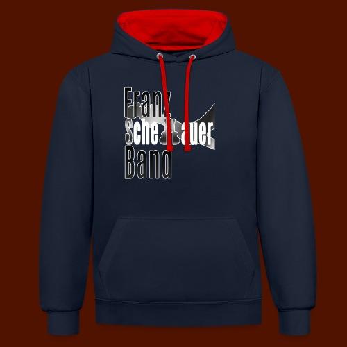 FSB Logo gray - Contrast Colour Hoodie