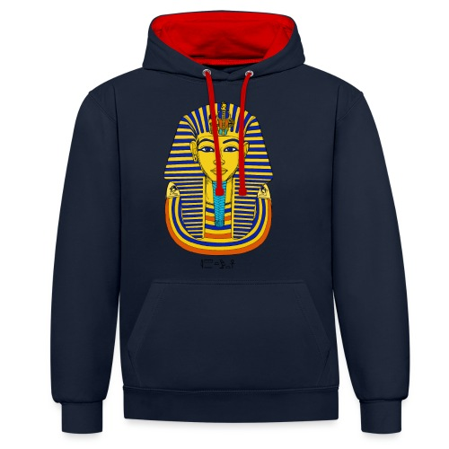 Pharao Tutanchamun - Kontrast-Hoodie